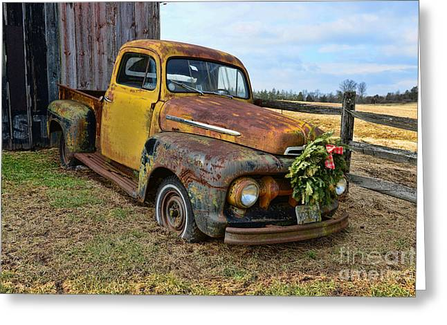 Son Gift Greeting Cards - 1951 Ford Pick Up Truck Greeting Card by Paul Ward