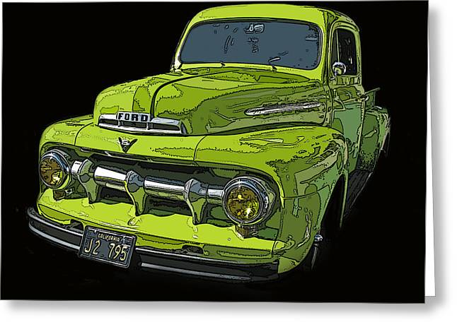 1951 Ford Pickup Truck Greeting Card by Samuel Sheats