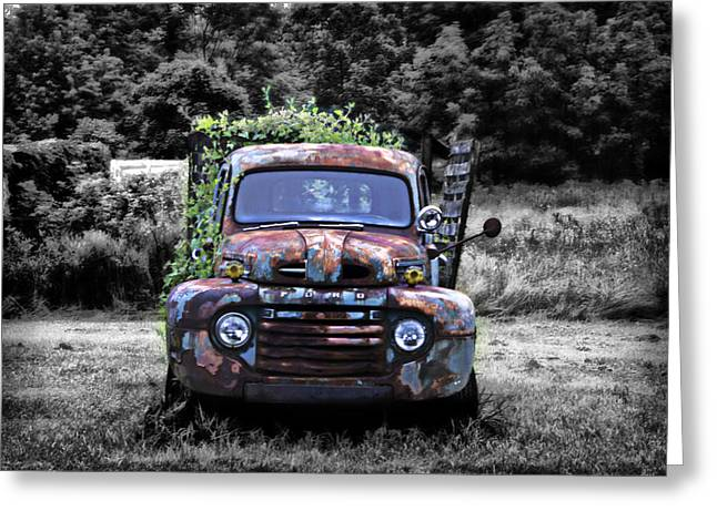 1951 Digital Art Greeting Cards - 1951 Ford Truck Greeting Card by Bill Cannon