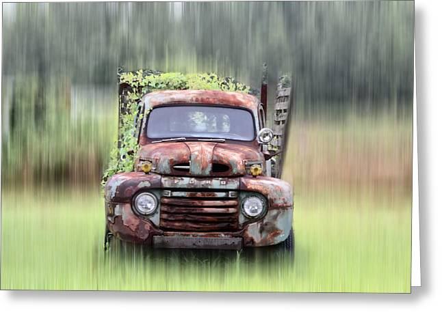 1951 Greeting Cards - 1951 Ford Truck - Found On Road Dead Greeting Card by Bill Cannon