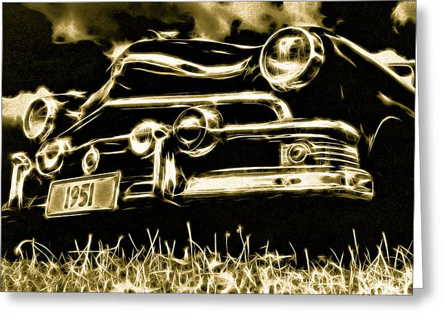 Aotearoa Greeting Cards - 1951 Ford V8 Convertible Greeting Card by Phil