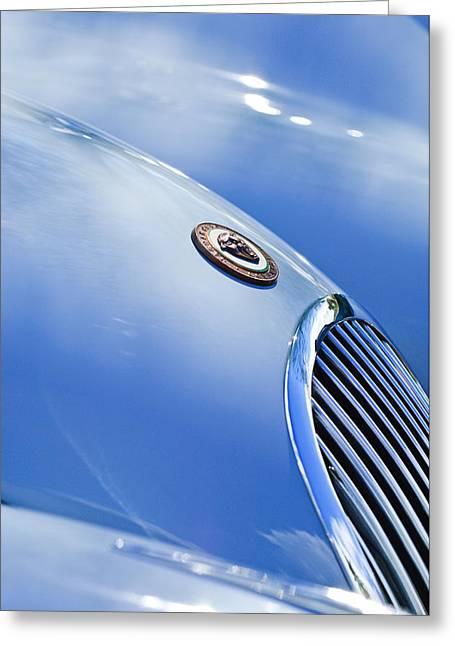 1951 Jaguar Grille Emblem Greeting Card by Jill Reger