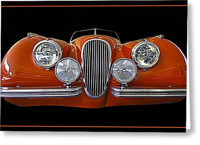 Jaguars Greeting Cards - 1951 Jaguar XK 120 Roadster Greeting Card by Jay Droggitis