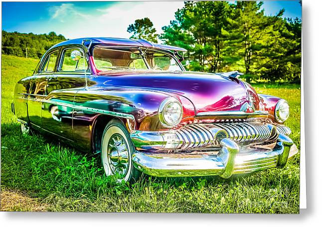 American Automobiles Photographs Greeting Cards - 1951 Mercury Sedan Greeting Card by Edward Fielding