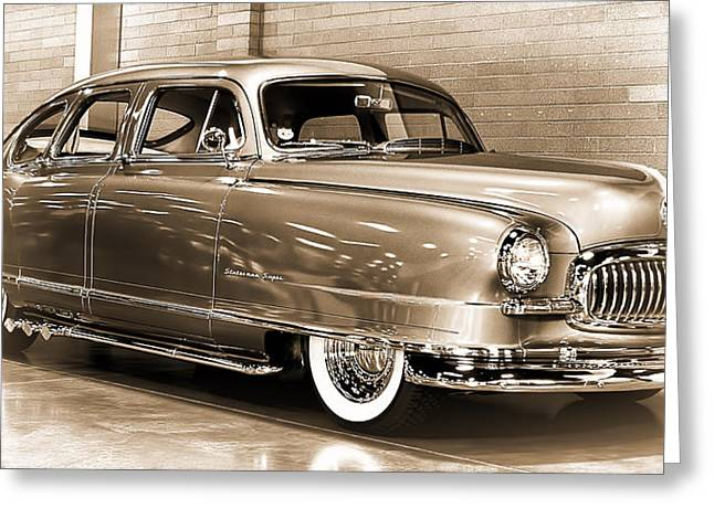 Ron Roberts Photography Photographs Greeting Cards - 1951 Nash Statesman Super Greeting Card by Ron Roberts