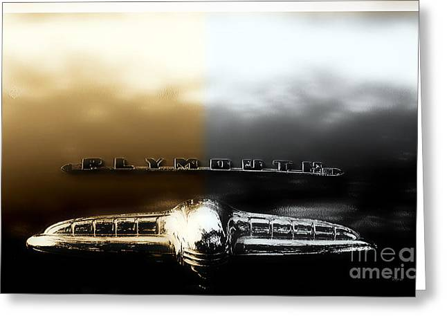 1951 Digital Art Greeting Cards - 1951 Plymouth   Greeting Card by Steven  Digman