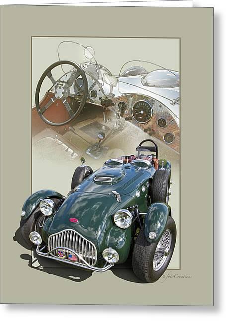 Rally Greeting Cards - 1952 Allard J2X Greeting Card by Roger Beltz