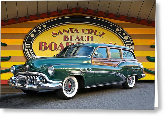 Family Car Greeting Cards - 1952 Buick Estate Woody Wagon Greeting Card by Dave Koontz