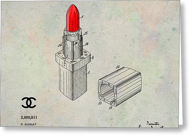 Empower Greeting Cards - 1952 Chanel Lipstick Case 1 Greeting Card by Nishanth Gopinathan