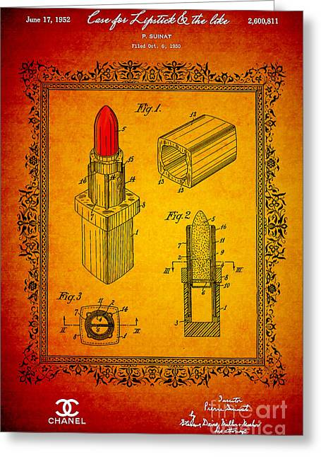 Empower Greeting Cards - 1952 Chanel Lipstick Case 2 Greeting Card by Nishanth Gopinathan