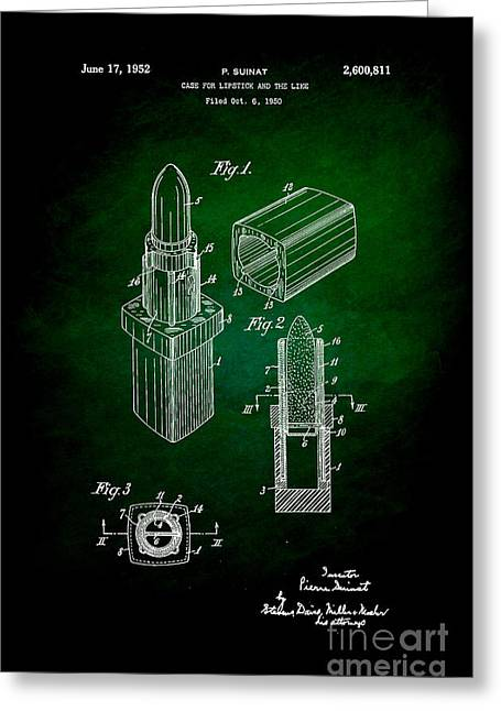 Empower Greeting Cards - 1952 Chanel Lipstick Case 6 Greeting Card by Nishanth Gopinathan
