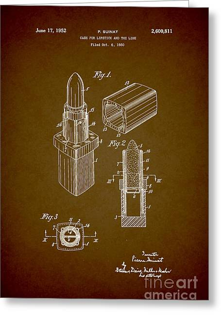 Empower Greeting Cards - 1952 Chanel Lipstick Case 9 Greeting Card by Nishanth Gopinathan