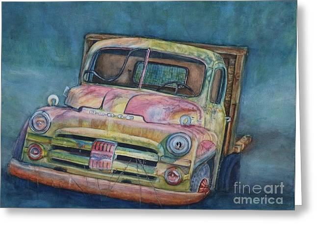 Classic Pickup Paintings Greeting Cards - 1952 Dodge Half-Ton Pickup Greeting Card by DJ Laughlin