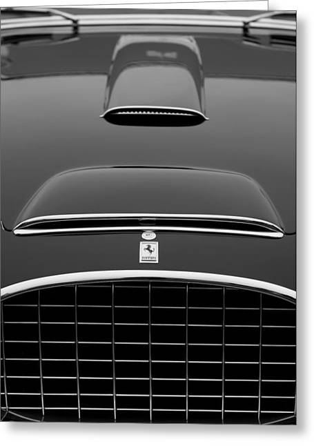 Cabriolet Greeting Cards - 1952 Ferrari 342-375 America Pinin Farina Cabriolet Grille Greeting Card by Jill Reger