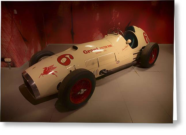 Indy Car Greeting Cards - 1952 Ferrari 375 Indy Racer Greeting Card by Mountain Dreams