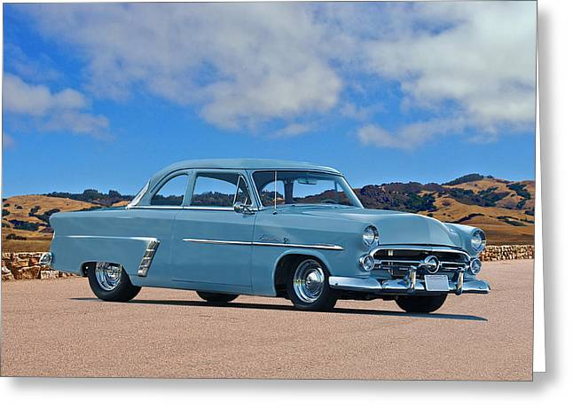 Customline Greeting Cards - 1952 Ford Customline Coupe Greeting Card by Dave Koontz