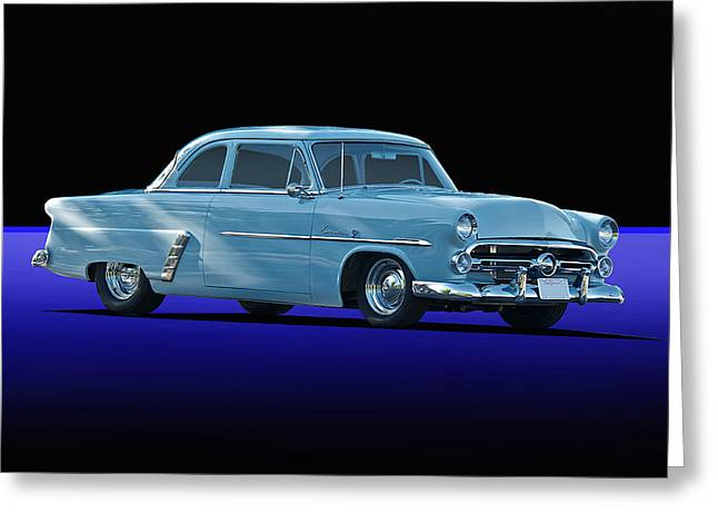 Customline Greeting Cards - 1952 ford Customline Coupee Greeting Card by Dave Koontz