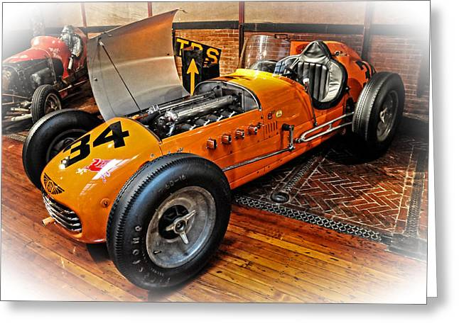 1952 Indy 500 Roadster Greeting Card by Mike Martin
