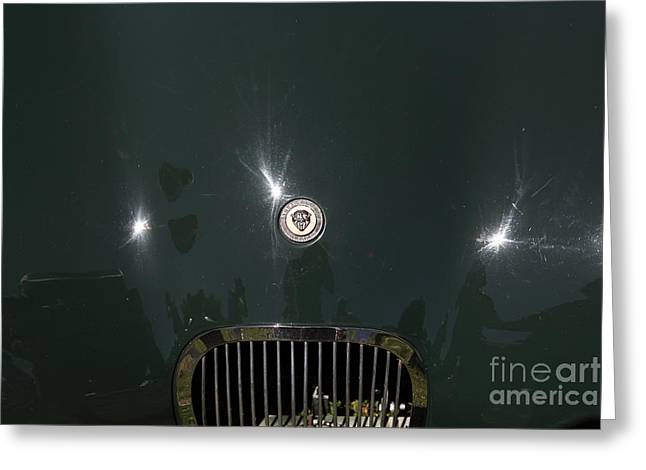 1952 Jaguar XK120 Roadster 5D22968 Greeting Card by Wingsdomain Art and Photography