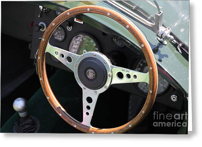 1952 Jaguar XK120 Roadster 5D22971 Greeting Card by Wingsdomain Art and Photography