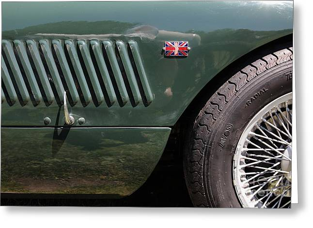 1952 Jaguar XK120 Roadster 5D22972 Greeting Card by Wingsdomain Art and Photography