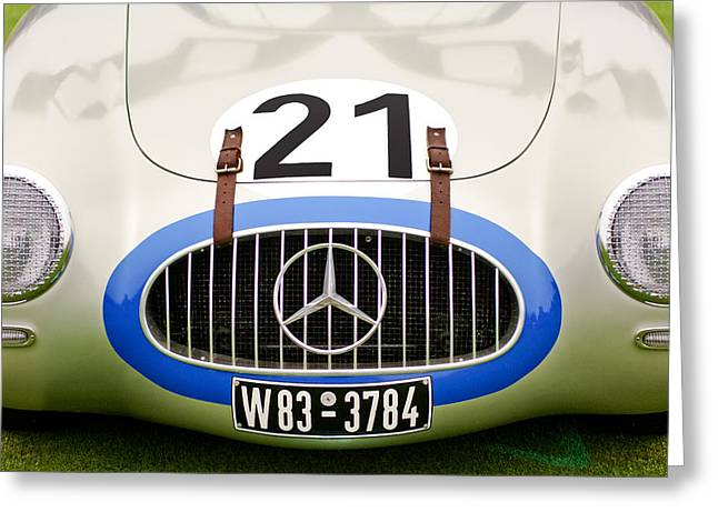 Pebble Beach Car Show Greeting Cards - 1952 Mercedes-Benz W194 Coupe Greeting Card by Jill Reger