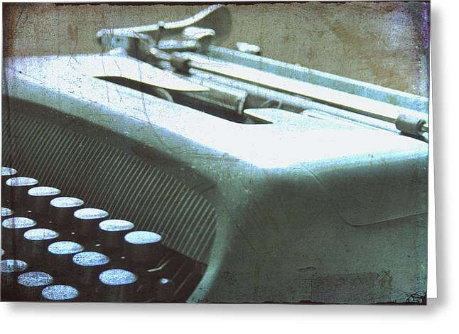 Out-of-date Greeting Cards - 1952 Olivetti Typewriter Greeting Card by Nomad Art And  Design
