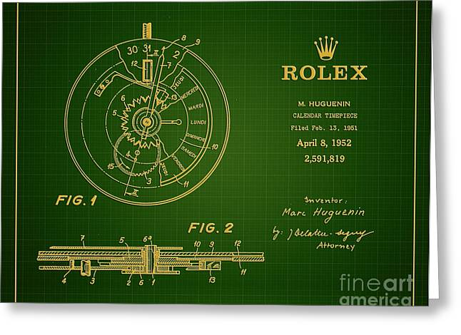 Important Greeting Cards - 1952 Rolex Calendar Timepiece 1 Greeting Card by Nishanth Gopinathan