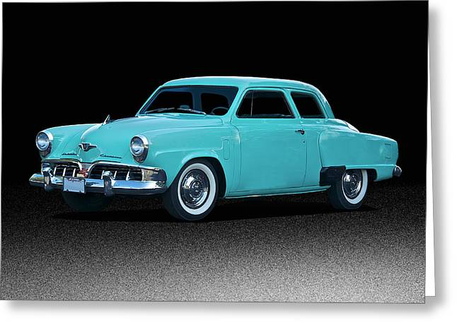 Family Car Greeting Cards - 1952 Studebaker Champion Greeting Card by Dave Koontz