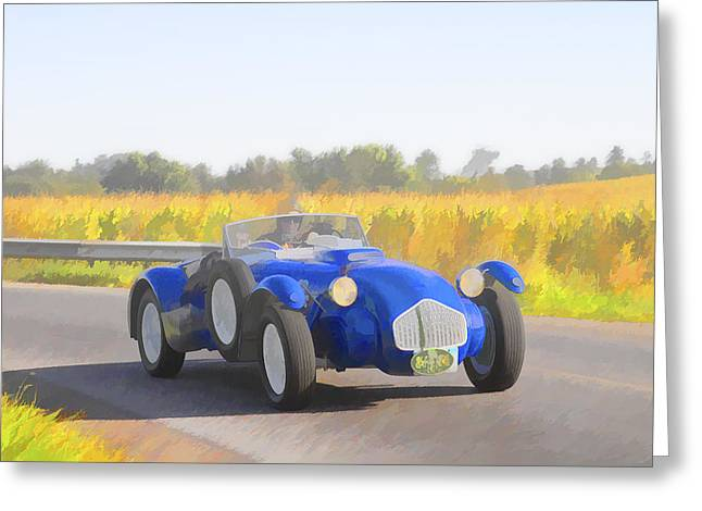 Jack R Perry Greeting Cards - 1953 Allard J2X roadster Greeting Card by Jack R Perry