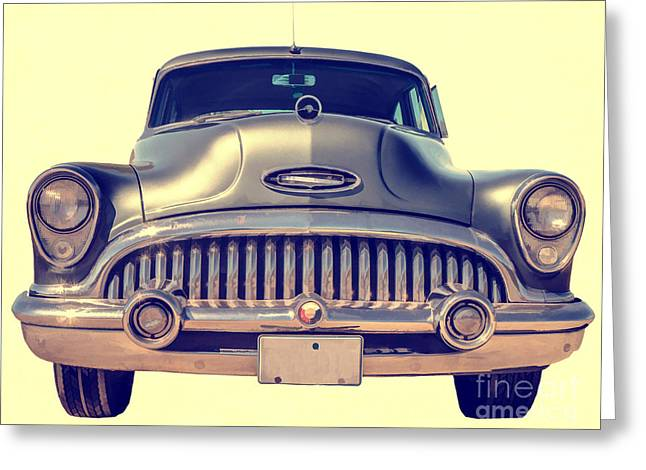 Headlight Greeting Cards - 1953 Buick Roadmaster Greeting Card by Edward Fielding