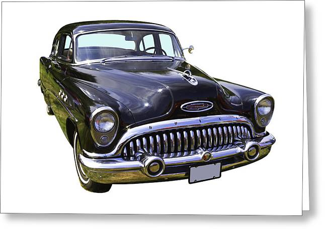 Old Digital Art Greeting Cards - 1953 Buick Special Antique Car Greeting Card by Keith Webber Jr