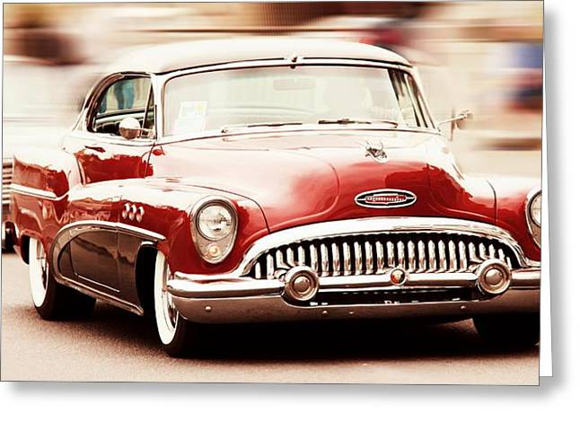 Custom Buick Greeting Cards - 1953 Buick Super Greeting Card by Aaron Berg