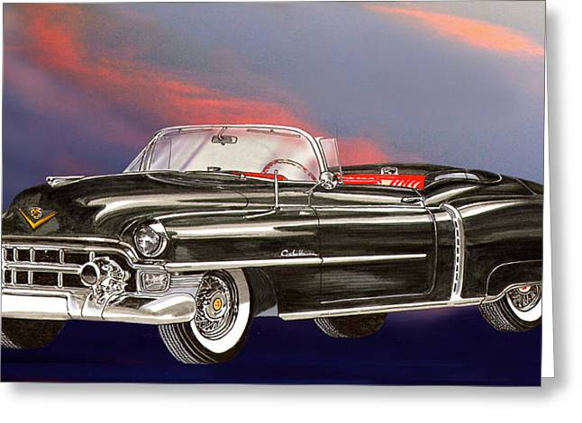 The Boulevards Greeting Cards - 1953  Cadillac El Dorardo Convertible Greeting Card by Jack Pumphrey