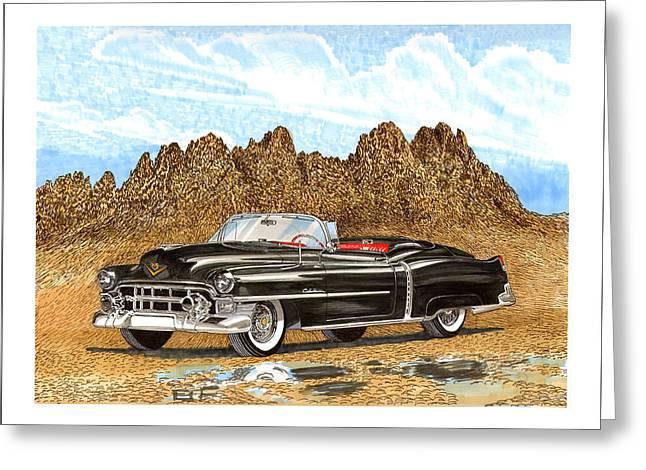 The Boulevards Greeting Cards - 1953 Cadillac ElDorado Biarritz Greeting Card by Jack Pumphrey