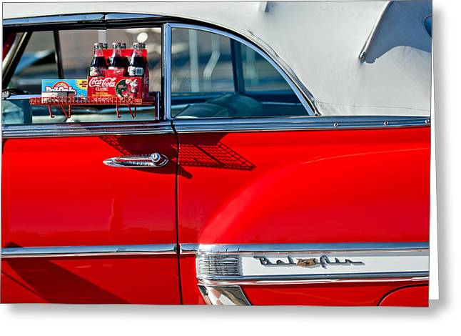 Classic Car Photography Greeting Cards - 1953 Chevrolet Belair Convertible Greeting Card by Jill Reger