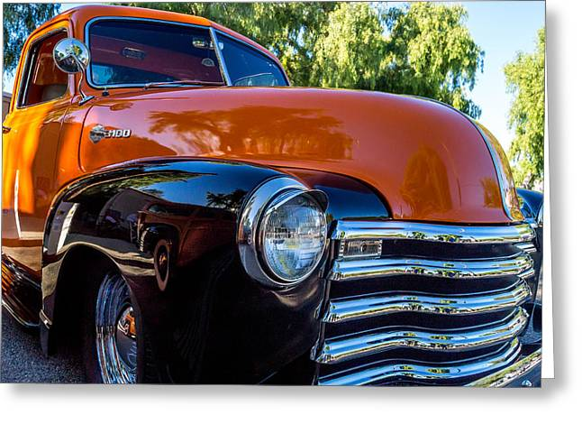 Chevy Pickup Greeting Cards - 1953 Chevrolet Pickup Greeting Card by Steve Benefiel