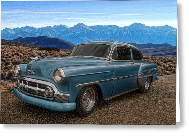 Greaserama Greeting Cards - 1953 Chevrolet Greeting Card by Tim McCullough