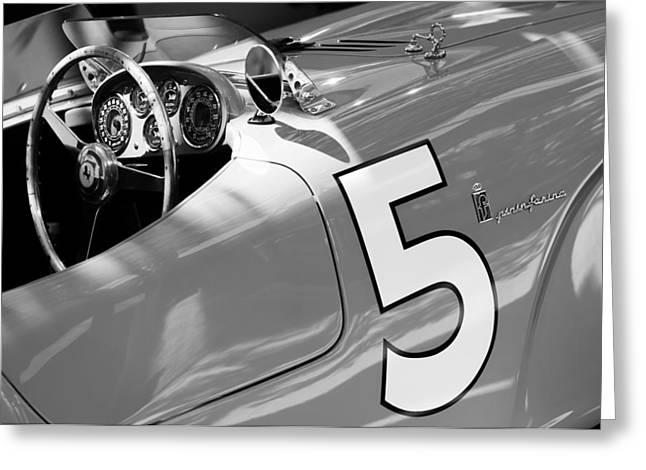 1953 Greeting Cards - 1953 Ferrari 375 MM Spider Greeting Card by Jill Reger