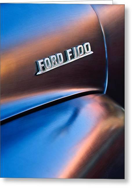 1953 Greeting Cards - 1953 Ford F100 Pickup Truck Emblem Greeting Card by Jill Reger