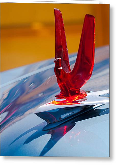Recently Sold -  - Collector Hood Ornament Greeting Cards - 1953 Ford Hood Ornament Greeting Card by Jill Reger
