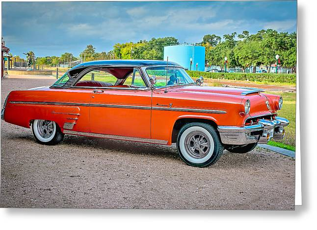 Mancave Greeting Cards - 1953 Mercury Monterey aka Maybellene Greeting Card by David Morefield