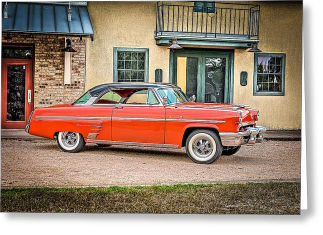 Autos Greeting Cards - 1953 Mercury Monterey en Francais Greeting Card by David Morefield