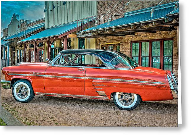 Autos Greeting Cards - 1953 Mercury Monterey named Maybellene Greeting Card by David Morefield