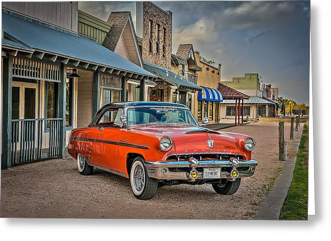 Autos Greeting Cards - 1953 Mercury Monterey Parked Greeting Card by David Morefield