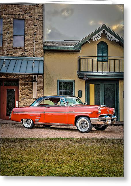 Diner Greeting Cards - 1953 Mercury Monterey Vertical Greeting Card by David Morefield