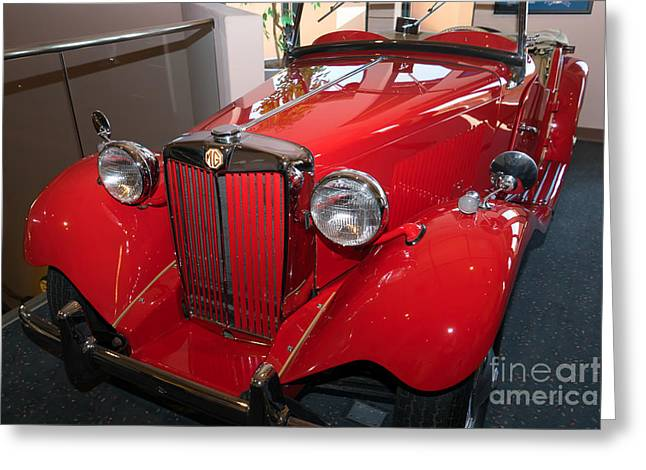 Td Greeting Cards - 1953 MG Model TD Roadster DSC2726 Greeting Card by Wingsdomain Art and Photography
