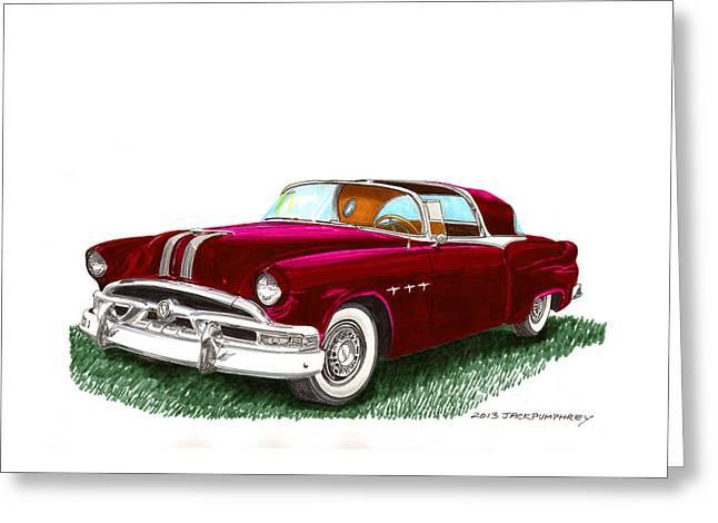Dream Team Art Greeting Cards - 1953 Pontiac Parisienne Concept Greeting Card by Jack Pumphrey