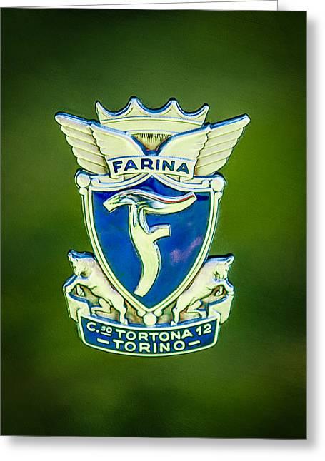 1953 Siata Daina Farina Emblem Greeting Card by Jill Reger