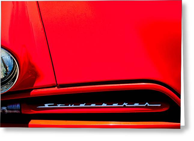1953 Studebaker Coupe Grille Emblem Greeting Card by Jill Reger